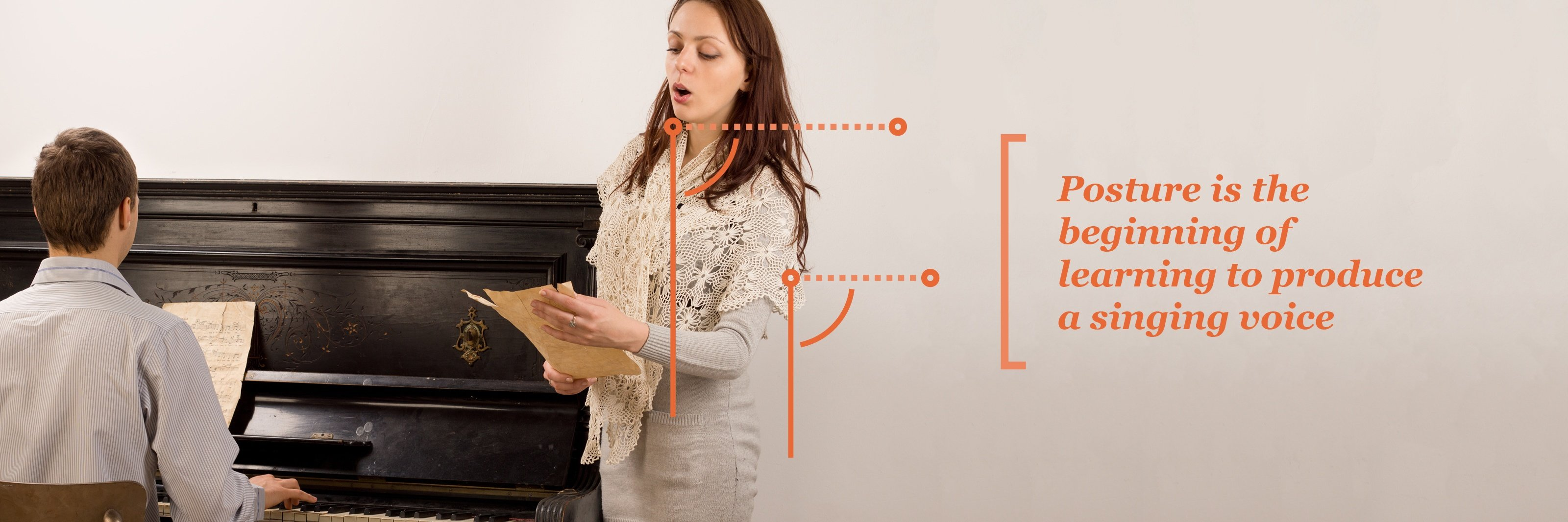 Posture is the beginning of learning to produce a singing voice